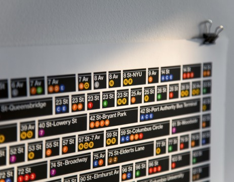 The New York City Subway: 468 stations. 1 poster.